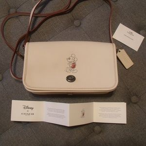 Coach Disney X Mickey Penny Dinky Chalk Crossbody